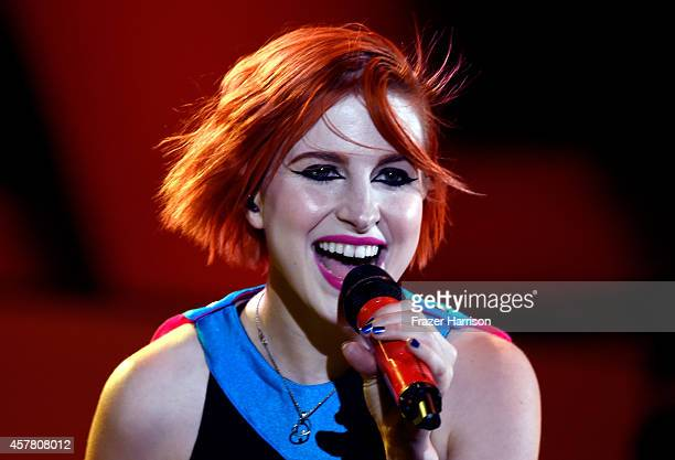 Singer Hayley Williams of Paramore performs onstage during CBS Radio's We Can Survive at the Hollywood Bowl on October 24 2014 in Los Angeles...