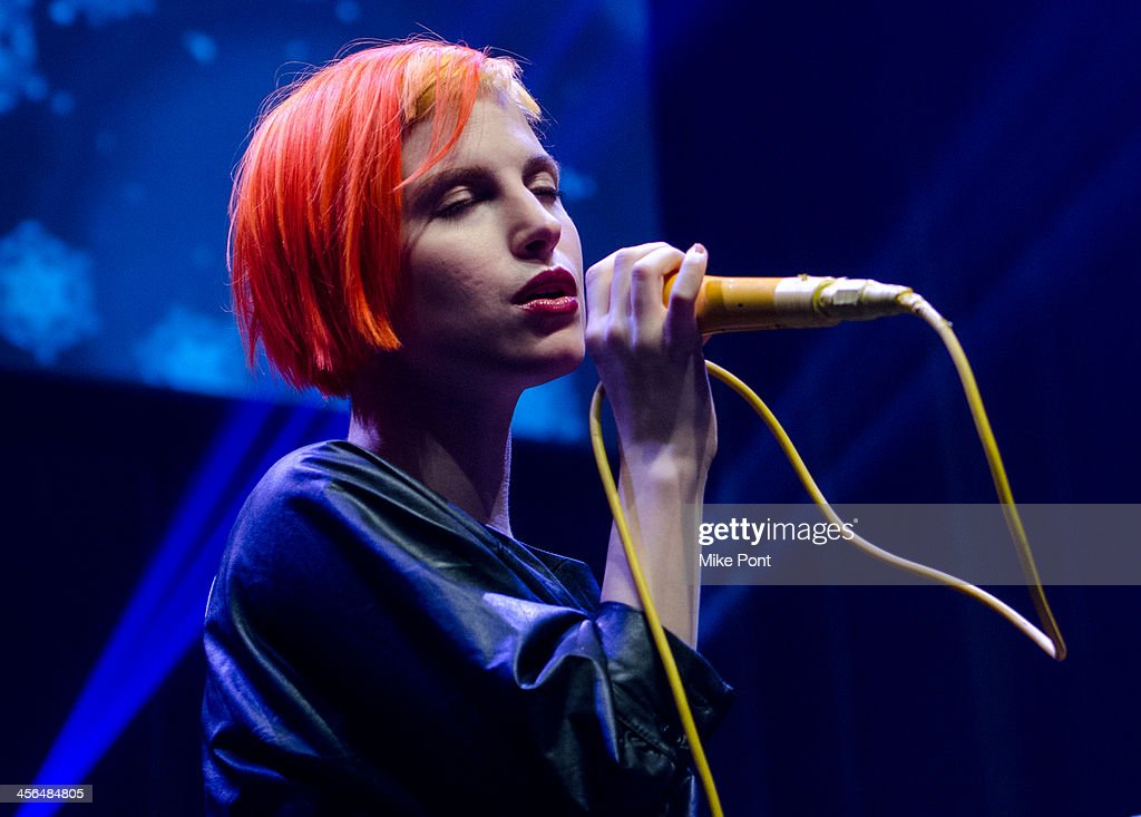 Singer <a gi-track='captionPersonalityLinkClicked' href=/galleries/search?phrase=Hayley+Williams&family=editorial&specificpeople=4383581 ng-click='$event.stopPropagation()'>Hayley Williams</a> of the band Paramore performs at the Z100 & Coca-Cola All Access Lounge at Hammerstein Ballroom on December 13, 2013 in New York City.