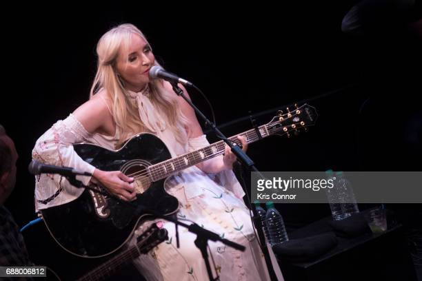 Singer Heather Morgan performs during the CMA Songwriters Series at The Kennedy Center of performing arts on May 24 2017 in Washington DC