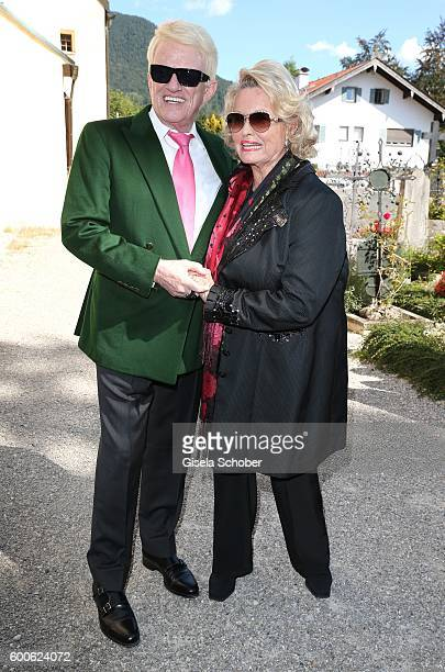 Singer Heino and his wife Hannelore during the wedding of Marianne and Michael Hartl at St Laurentius church on September 8 2016 in RottachEgern...