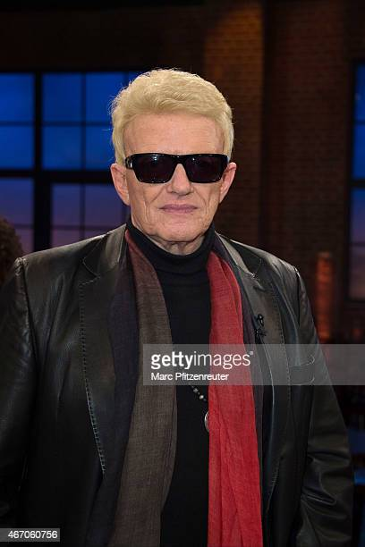 Singer Heino attends the 'Koelner Treff' TV Show at the WDR Studio on March 20 2015 in Cologne Germany