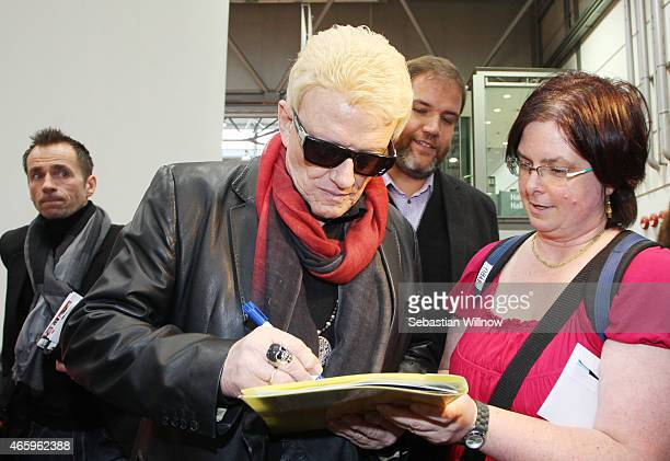 Singer Heino attends the Leipzig Book Fair on March 12 2015 in Leipzig Germany The Leipzig Book Fair is a reading festival that attracts more than...