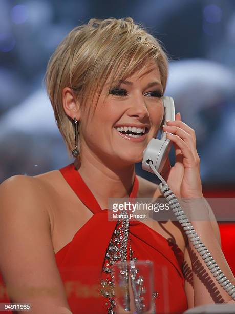 Singer Helene Fischer of Germany helps raise funds during the Jose Carreras Gala Show at the Neue Messe on December 17 2009 in Leipzig Germany