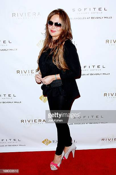 Singer Helene Segara attends Riviera 31 Red Carpet Debut Party on May 3 2013 in Los Angeles California