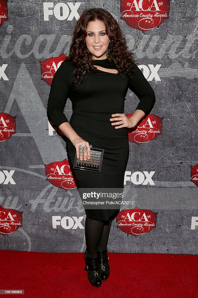 Singer Hillary Scott of Lady Antebellum arrives at the 2012 American Country Awards at the Mandalay Bay Events Center on December 10, 2012 in Las Vegas, Nevada.