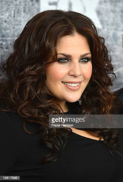 Singer Hillary Scott of Lady Antebellum arrives at the 2012 American Country Awards at the Mandalay Bay Events Center on December 10 2012 in Las...