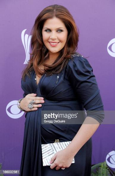 Singer Hillary Scott of Lady Antebellum arrives at the 48th Annual Academy Of Country Music Awards at MGM Grand Garden Arena on April 7 2013 in Las...