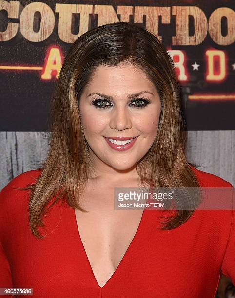 Singer Hillary Scott of Lady Antebellum attends the 2014 American Country Countdown Awards at Music City Center on December 15 2014 in Nashville...