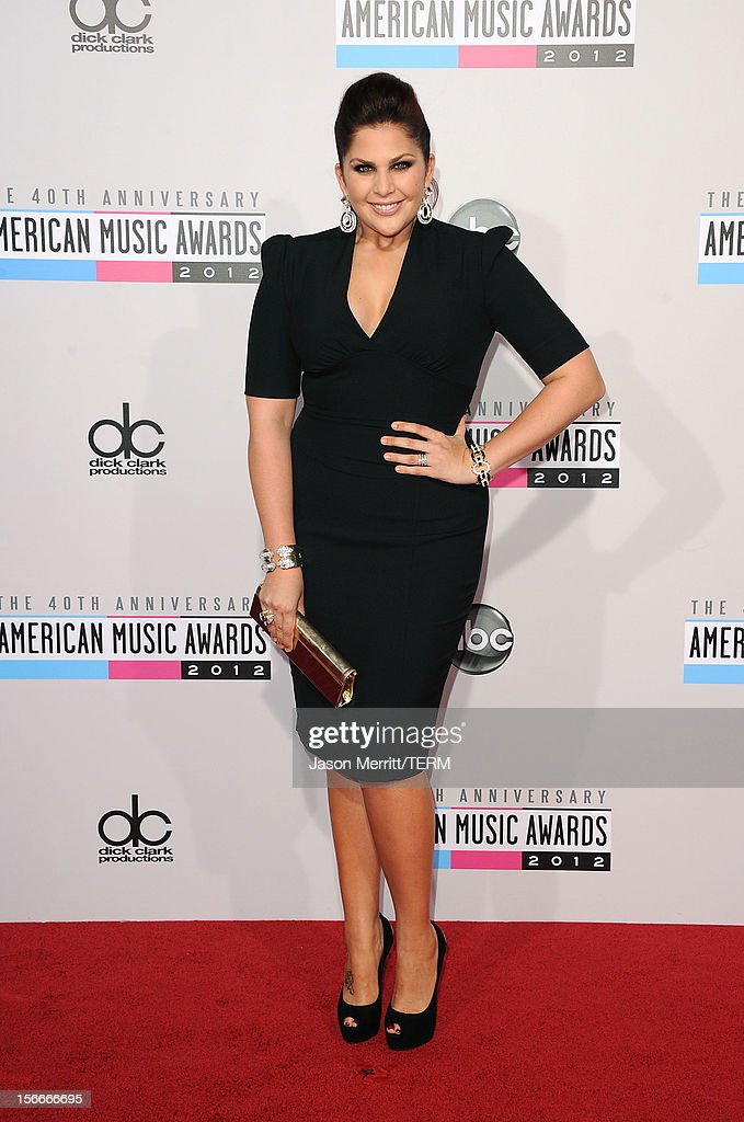 Singer Hillary Scott of Lady Antebellum attends the 40th American Music Awards held at Nokia Theatre L.A. Live on November 18, 2012 in Los Angeles, California.
