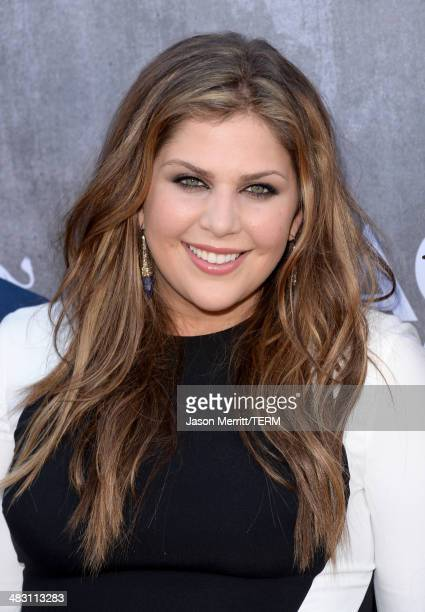 Singer Hillary Scott of Lady Antebellum attends the 49th Annual Academy Of Country Music Awards at the MGM Grand Garden Arena on April 6 2014 in Las...