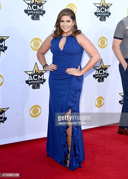 Singer Hillary Scott of Lady Antebellum attends the 50th Academy of Country Music Awards at ATT Stadium on April 19 2015 in Arlington Texas
