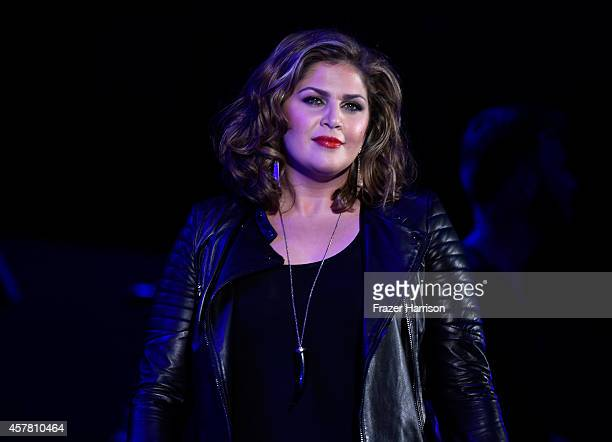 Singer Hillary Scott of Lady Antebellum performs onstage during CBS Radio's We Can Survive at the Hollywood Bowl on October 24 2014 in Los Angeles...