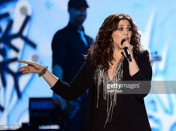 Singer Hillary Scott of Lady Antebellum performs onstage during the 2012 American Country Awards at the Mandalay Bay Events Center on December 10...