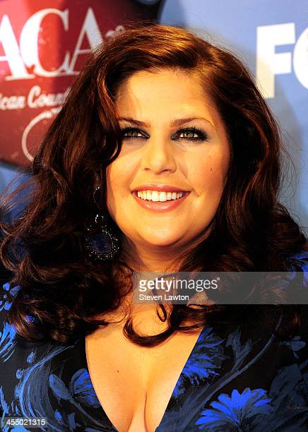 Singer Hillary Scott of Lady Antebellum poses in th press room during the American Country Awards 2013 at the Mandalay Bay Events Center on December...
