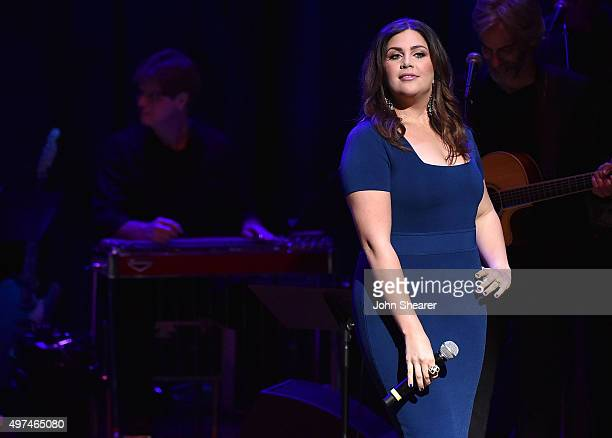 Singer Hillary Scott performs at the Leadership Music's Dale Franklin Awards at Country Music Hall of Fame and Museum on November 16 2015 in...