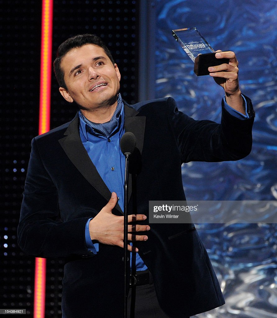 Singer Horacio Palencia Cisneros receives the Compositor Del Ano award at the Billboard Mexican Music Awards presented by State Farm on October 18, 2012 in Los Angeles, California.
