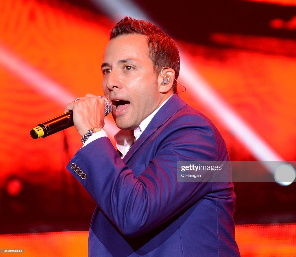 Singer Howie Dorough of the Backstreet Boys performs during the 'In a World Like This' summer tour at Shoreline Amphitheatre on May 25, 2014 in Mountain View, California.