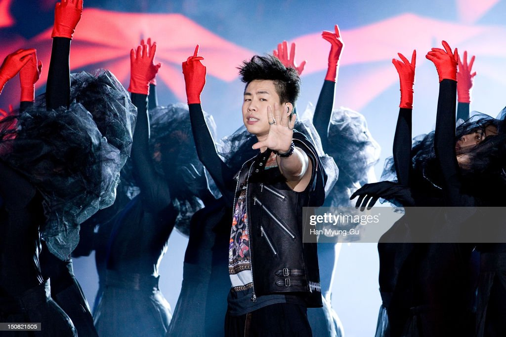 Singer Hu Yan Bin from China performs onstage during the KBS Korea-China Music Festival on August 25, 2012 in Yeosu, South Korea.
