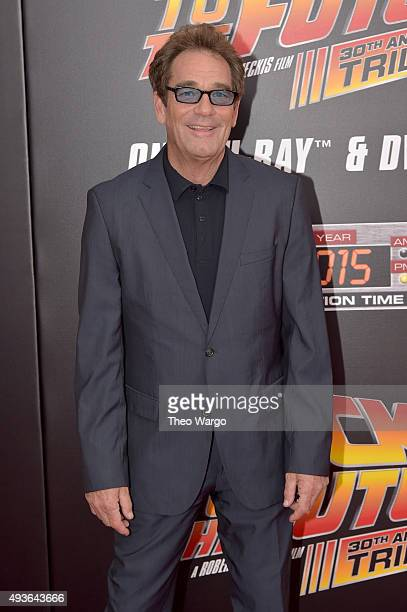 Singer Huey Lewis attends the 'Back To The Future' New York special anniversary screening at AMC Loews Lincoln Square on October 21 2015 in New York...