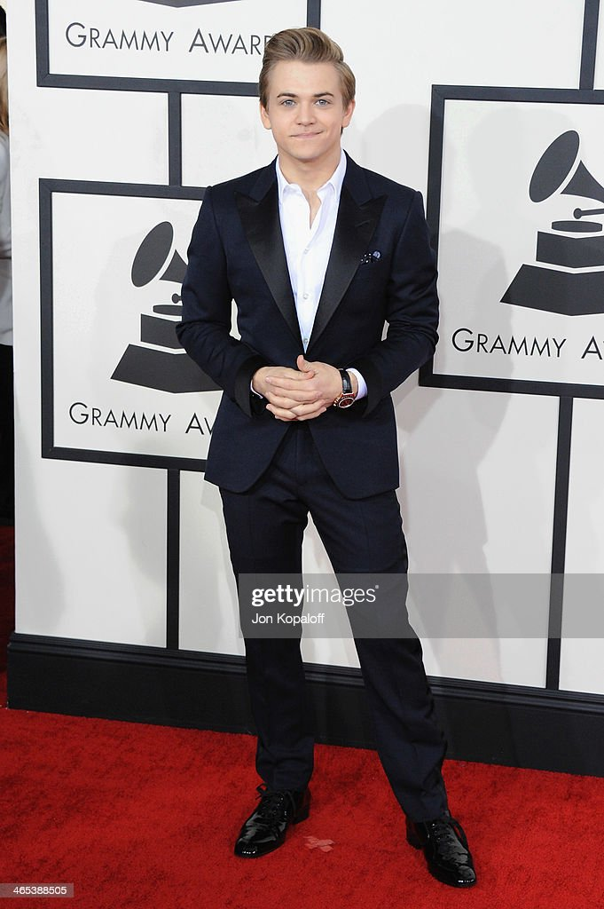 Singer Hunter Hayes arrives at the 56th GRAMMY Awards at Staples Center on January 26, 2014 in Los Angeles, California.