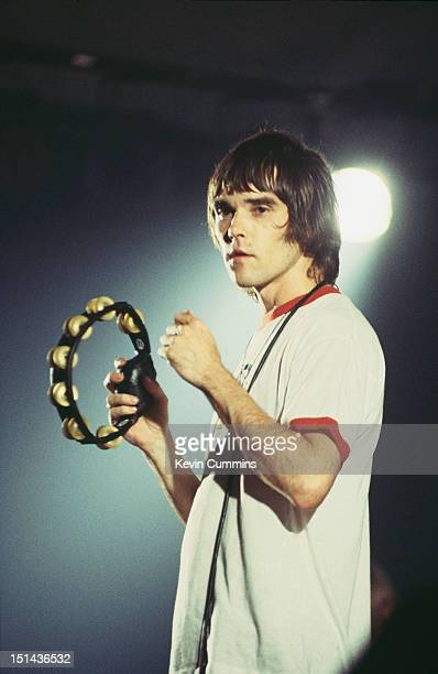 Singer Ian Brown performing with British rock group The Stone Roses Copenhagen Denmark 1995