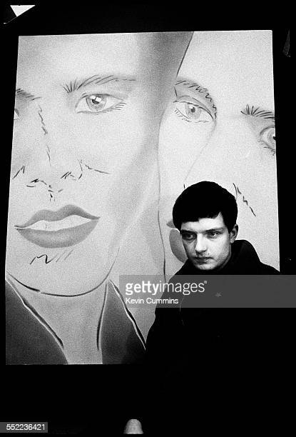 Singer Ian Curtis of English postpunk band Joy Division in an art and furniture shop Manchester 6th January 1979