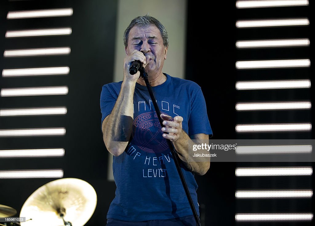 Singer <a gi-track='captionPersonalityLinkClicked' href=/galleries/search?phrase=Ian+Gillan&family=editorial&specificpeople=596006 ng-click='$event.stopPropagation()'>Ian Gillan</a> of the English band Deep Purple performs live during a concert at the Max-Schmeling-Halle on October 26, 2013 in Berlin, Germany.