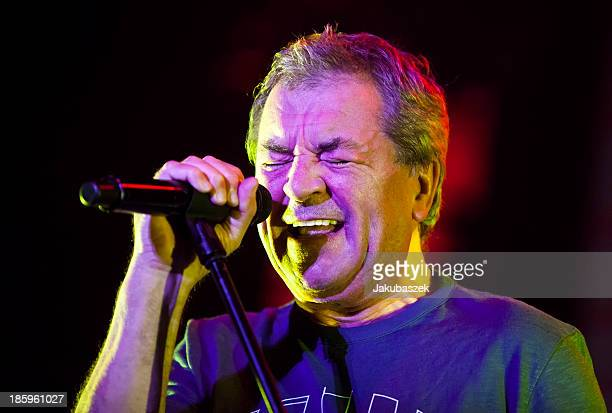Singer Ian Gillan of the English band Deep Purple performs live during a concert at the MaxSchmelingHalle on October 26 2013 in Berlin Germany
