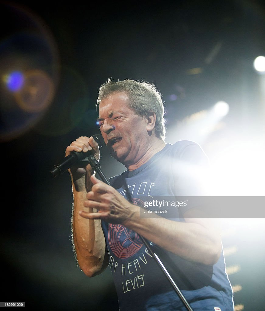 Singer Ian Gillan of the English band Deep Purple performs live during a concert at the Max-Schmeling-Halle on October 26, 2013 in Berlin, Germany.