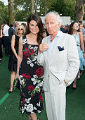 Singer Idina Menzel and Ron Delsener attend the 2016 City Parks Foundation gala at Rumsey Playfield Central Park on June 20 2016 in New York City