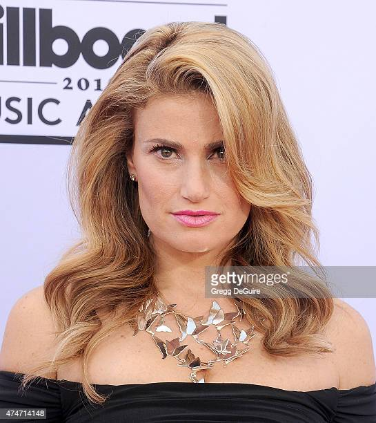 Singer Idina Menzel arrives at the 2015 Billboard Music Awards at MGM Garden Arena on May 17 2015 in Las Vegas Nevada