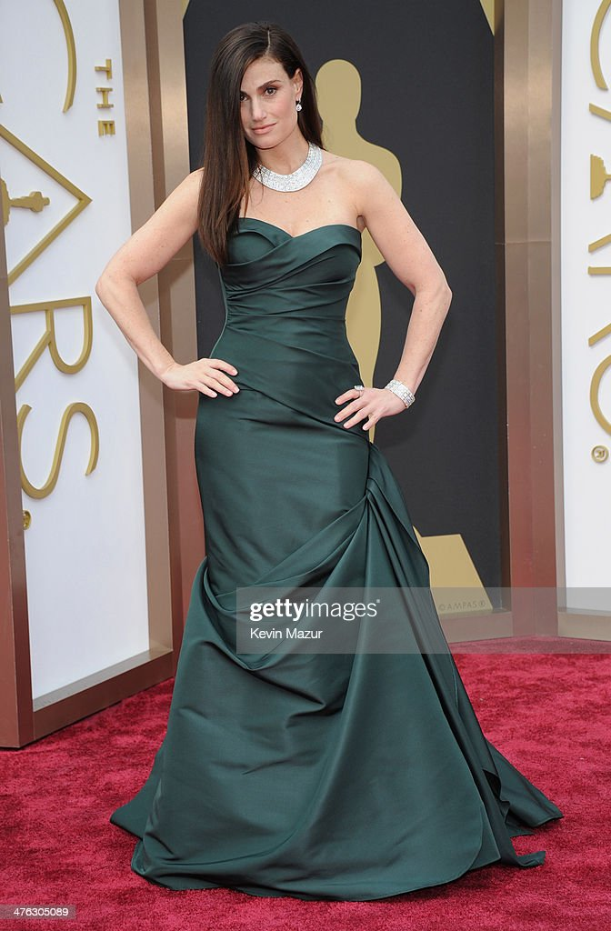 Singer <a gi-track='captionPersonalityLinkClicked' href=/galleries/search?phrase=Idina+Menzel&family=editorial&specificpeople=213583 ng-click='$event.stopPropagation()'>Idina Menzel</a> attends the Oscars held at Hollywood & Highland Center on March 2, 2014 in Hollywood, California.