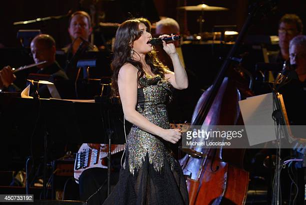 Singer Idina Menzel performs at Radio City Music Hall on June 16 2014 in New York City