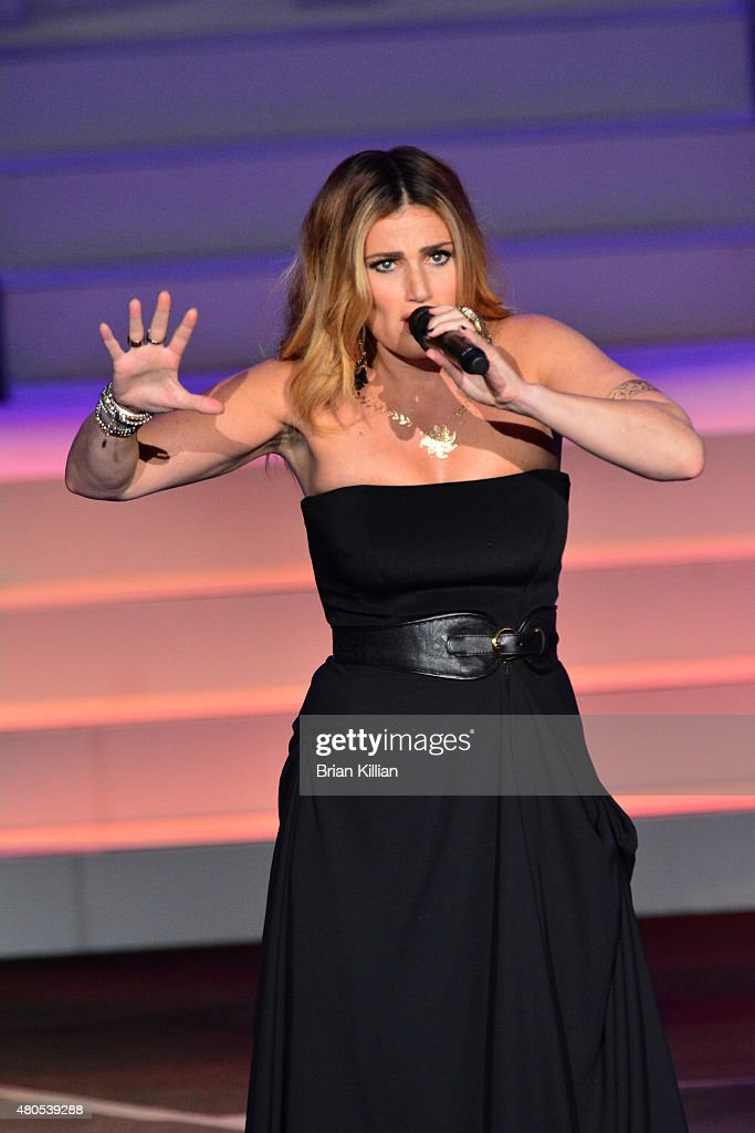 Singer Idina Menzel performs at the PNC Bank Arts Center on July 12, 2015 in Holmdel, New Jersey.