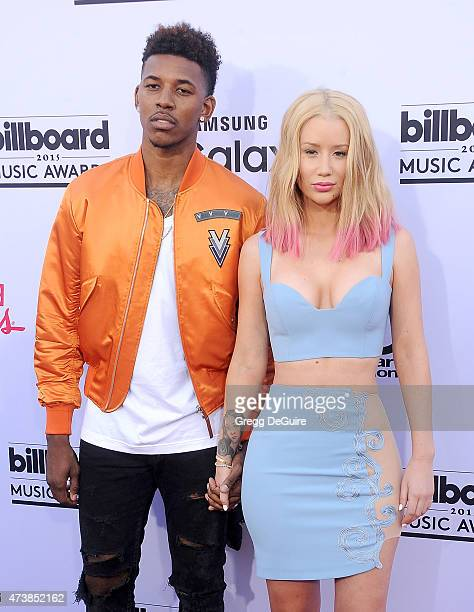 Singer Iggy Azalea and Nick Young arrive at the 2015 Billboard Music Awards at MGM Garden Arena on May 17 2015 in Las Vegas Nevada