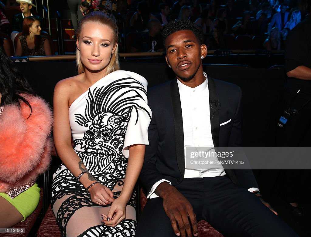 Singer Iggy Azalea (L) and professional basketball player Nick Young attend the 2014 MTV Video Music Awards at The Forum on August 24, 2014 in Inglewood, California.