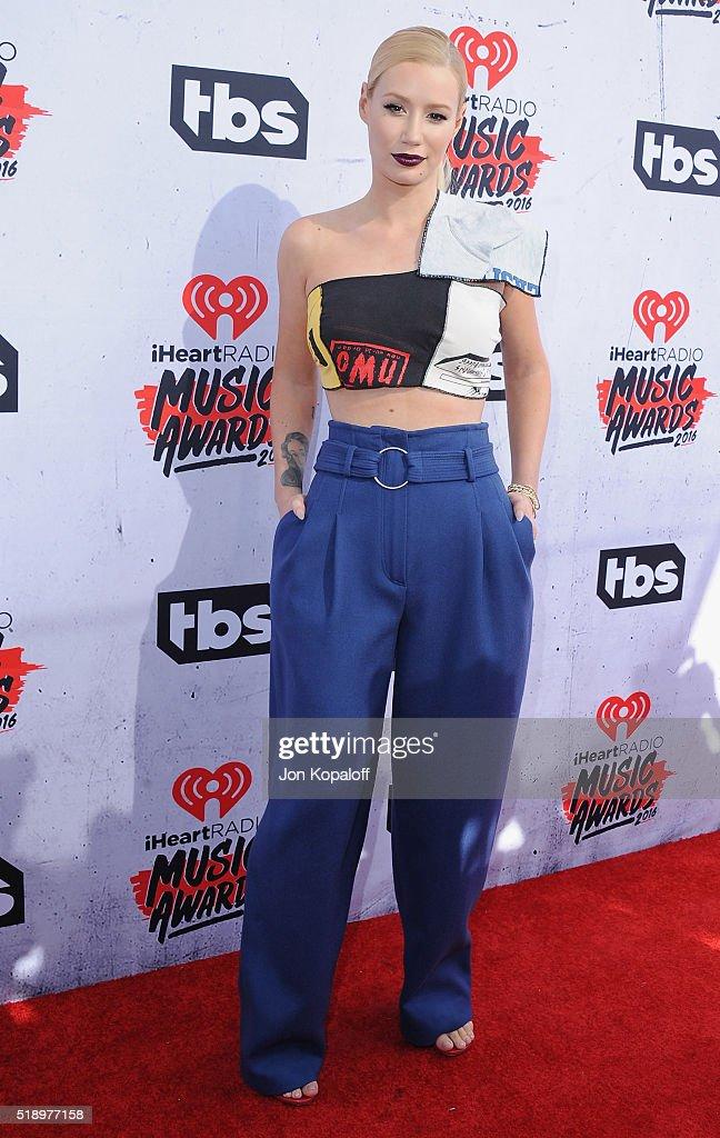 Singer Iggy Azalea arrives at iHeartRadio Music Awards on April 3 2016 in Inglewood California