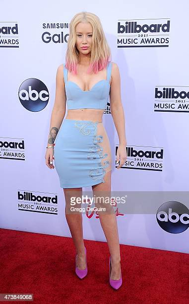 Singer Iggy Azalea arrives at the 2015 Billboard Music Awards at MGM Garden Arena on May 17 2015 in Las Vegas Nevada