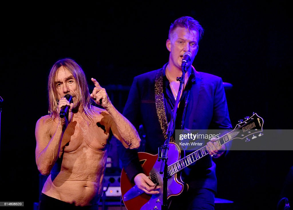 Iggy Pop And Josh Homme Perform At Teragram Ballroom For The Post Pop Depression Tour