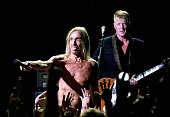 Singer Iggy Pop and musician Josh Homme perform at the Teragram Ballroom for The Post Pop Depression Tour on March 9 2016 in Los Angeles California