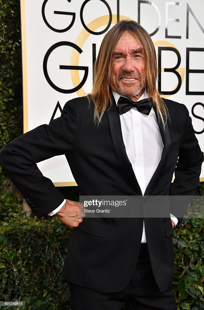 Singer Iggy Pop attends the 74th Annual Golden Globe Awards at The Beverly Hilton Hotel on January 8, 2017 in Beverly Hills, California.