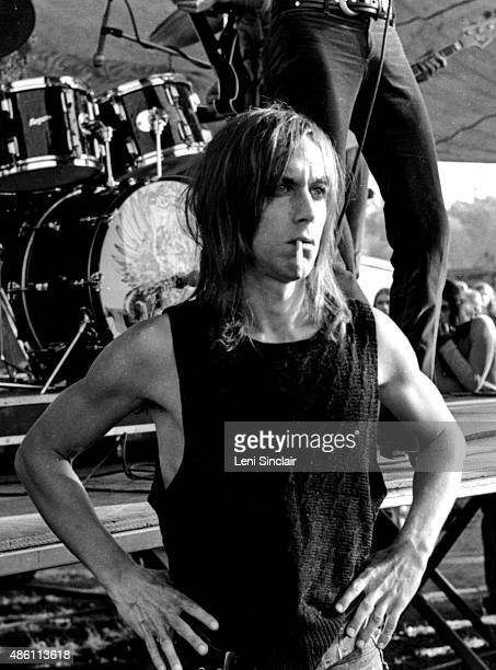 Singer Iggy Pop enjoying a concert in the park in 1971 in Ann Arbor Michigan