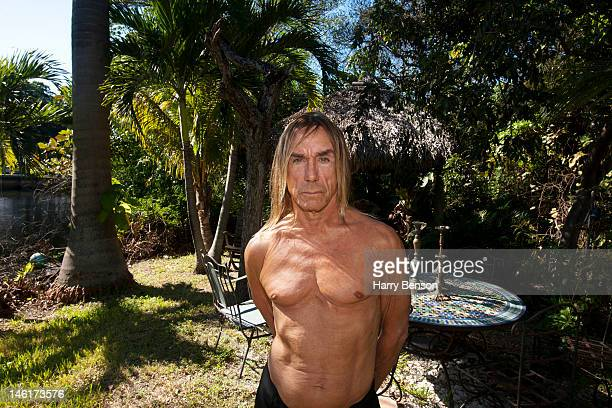 Singer Iggy Pop is photographed at his home for Vice magazine on January 16 2012 in Miami Florida