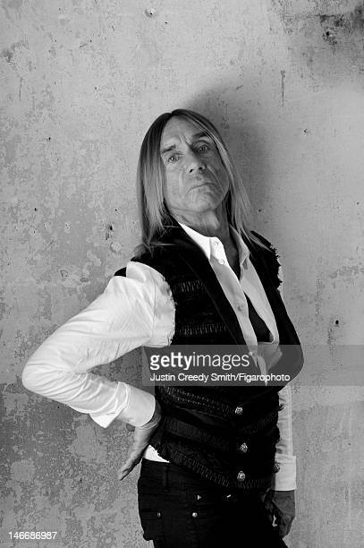 Singer Iggy Pop is photographed for Madame Figaro on May 14 2012 in Paris France PUBLISHED IMAGE Figaro ID 104090002 Shirt and jeans by Eleven Paris...