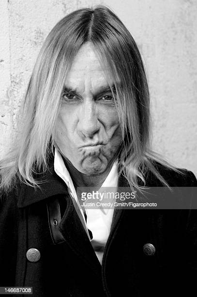 Singer Iggy Pop is photographed for Madame Figaro on May 14 2012 in Paris France Figaro ID 104090008 All by Eleven Paris CREDIT MUST READ Justin...