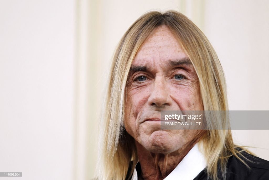 US singer Iggy Pop poses during a press conference to present his new album 'Apr?s', on May 9, 2012 in Paris. 'Apr?s' ('After' in French) is Iggy Pop's 16th record, with covers of international and French standards (such as Frank Sinatra, The Beatles, Edith Piaf, Serge Gainsbourg, Georges Brassens, Henri Salvador), exclusively on sale on the French online retailer website vente-privee.com, specialising in selling brand overstock and organizing events-based sales.