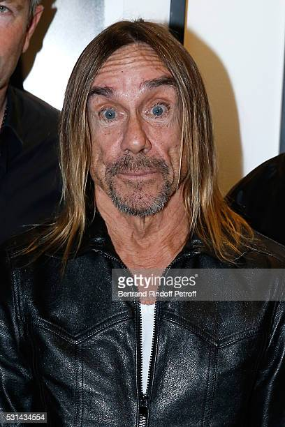 Singer Iggy Pop presents the 'Iggy Pop Post Depression' Art Pictures Exhibition at French Paper Gallery on May 14 2016 in Paris France
