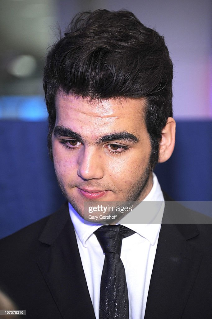 Singer Ignazio Boschetto of ll Volo seen at jetBlue Terminal 5 at JFK Airport on December 4, 2012 in New York City.