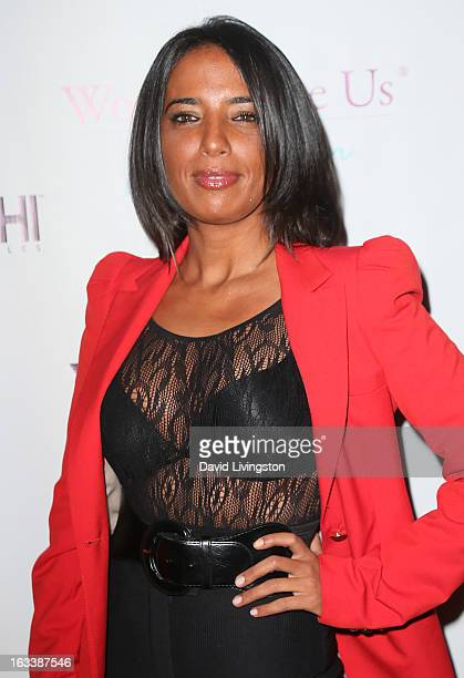 Singer Ilhame Paris attends a PreLAFW benefit in support of the Women Like Us Foundation at Lexington Social House on March 8 2013 in Hollywood...