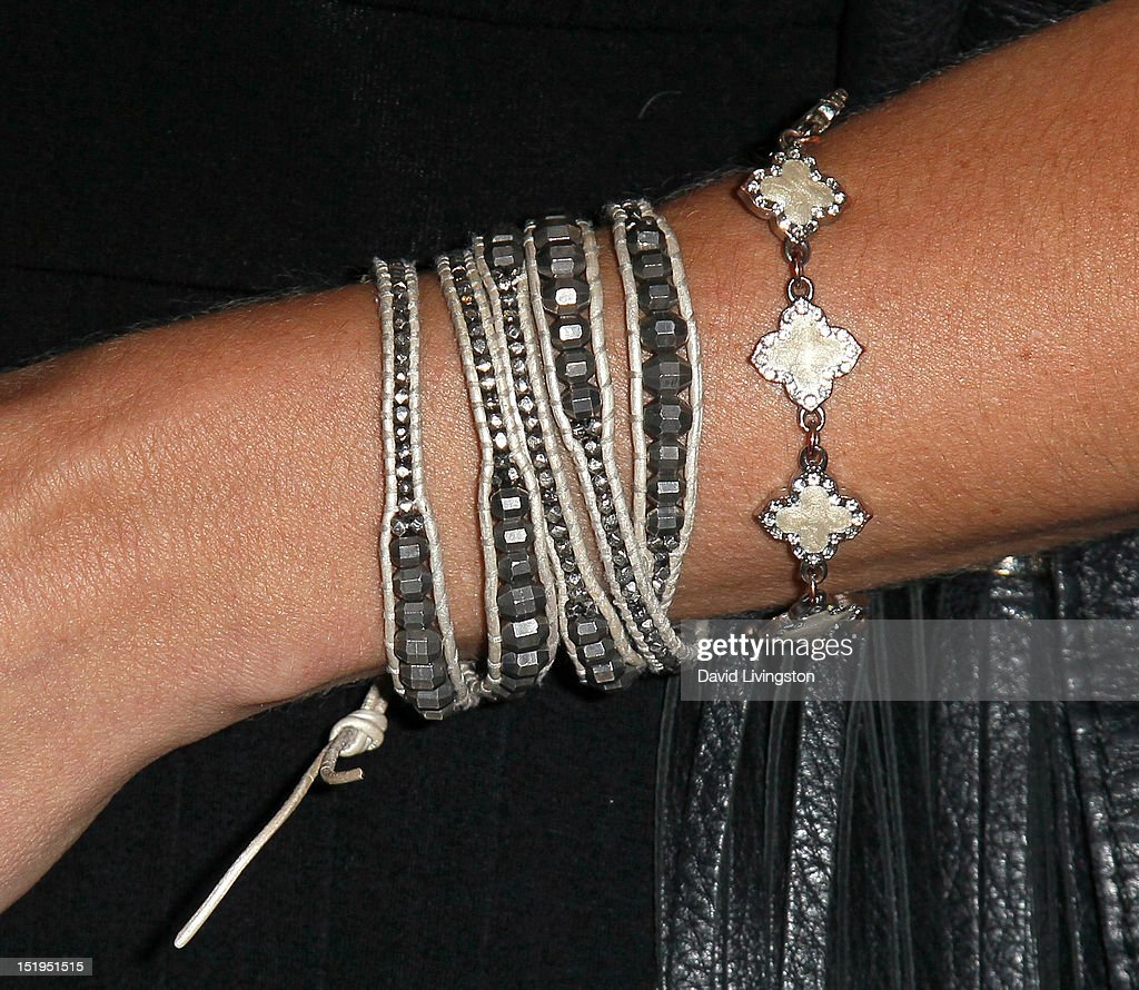 Singer in the band Stealing Angels & John Wayne's granddaughter Jennifer Wayne (bracelet detail) attends the Los Angeles Mission's 20th Anniversary Gala for the Anne Douglas Center for Women at the Four Seasons Hotel Los Angeles at Beverly Hills on September 12, 2012 in Beverly Hills, California.